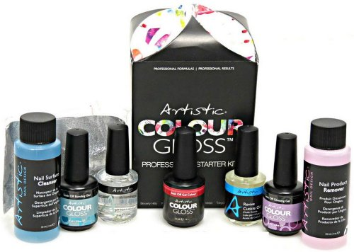Artistic Colour Gloss Professional Starter Kit Nail Design Gel Polish Treatment (Artistic Gel Polish compare prices)
