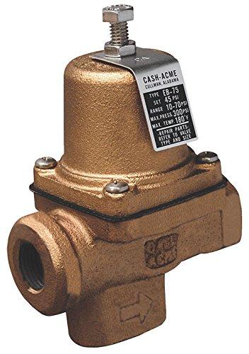 cash acme 23000 0045 pressure regulator eb75 fpt x fpt cartridge based design 10 psi 70 psi. Black Bedroom Furniture Sets. Home Design Ideas
