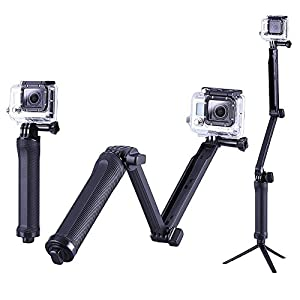 Calas 3-way Grip Stabilizer Mount with Tripod Adapter for GoPro HERO Cameras Gopro Hero 1 2 3 3+ 4 and Session Camera