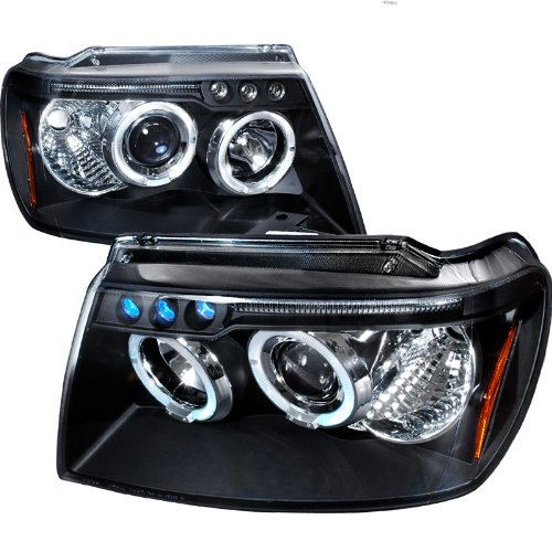 Jeep Grand Cherokee Black Halo Led Projector Head Lights