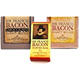 Sir Francis Bacon Sampler Gift Pack (3pc Set) - Bacon Peanut Brittle, Milk Chocolate Bacon Brittle & Dark Chocolate Bacon Toffee