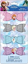 Frozen Flast Glitter Bows 4 Count
