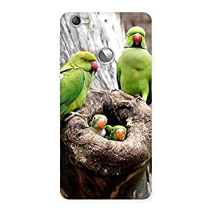 Delighted Parrot House Multicolor Back Case Cover for LeTV Le 1s