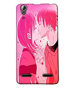 Fuson Love Couple Back Case Cover for LENOVO A6000 - D3990