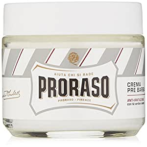 Proraso Anti Irritation Pre-Shave Cream with Green Tea and Oatmeal, 3.6 Ounces