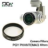 gouduoduo2018 ND4 Dimmer Filter Light Microscopy Camera Lens Filter For DJI Phantom 4 Phantom 3 Professional & Advanced