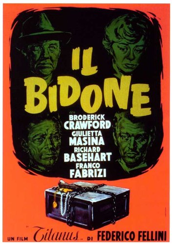 The Swindle Poster film In costruzione 11 17 x 28 cm x 44 cm, Broderick Crawford Giulietta Masina Richard Basehart Franco Fabrizi Sue Ellen Blake