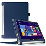 【Fintie】 Lenovo YOGA Tablet 2 10 インチ 専用保護ケース 超薄型 軽量 スタンド型カバー 高級PU レザー オートスリープ機能 (ネイビー)