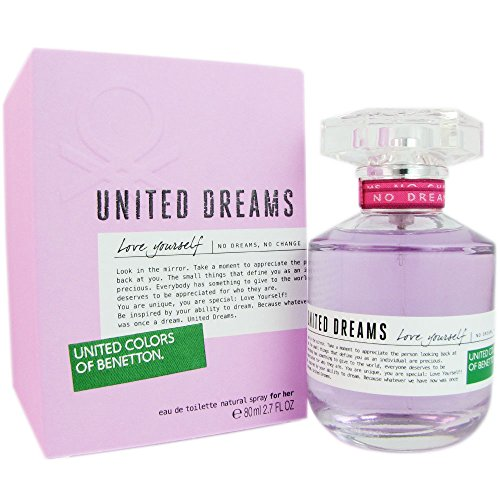 Benetton United Dreams Love Yourself Eau de Toilette Spray for Women, 2.7 Ounce