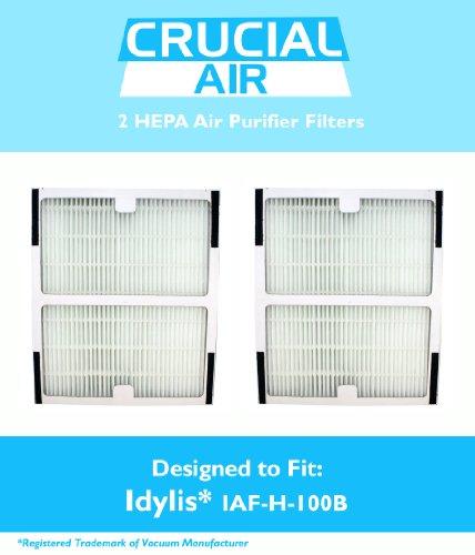 2 idylis hepa air purifier filter