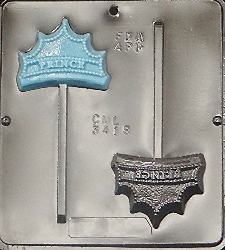 Prince Crown Lollipop Chocolate Candy Mold 3418 (Prince Cupcake Liners compare prices)
