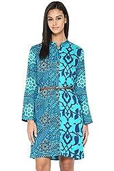 Akkriti by Pantaloons Women's Straight Dress ( 205000005637621, Turquoise, Large)