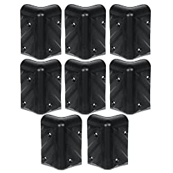 Reliable Hardware Company RH-1610-8-A Stackable Chevron Corner Durable HDPE Plastic Case, Set of 8 by Bienz & Fowlks dba Reliable Hardware Company