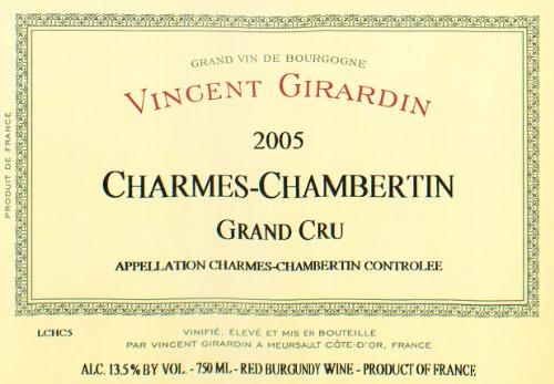 2005 Vincent Girardin Grand Cru Pinot Noir Côte De Nuits 750 Ml