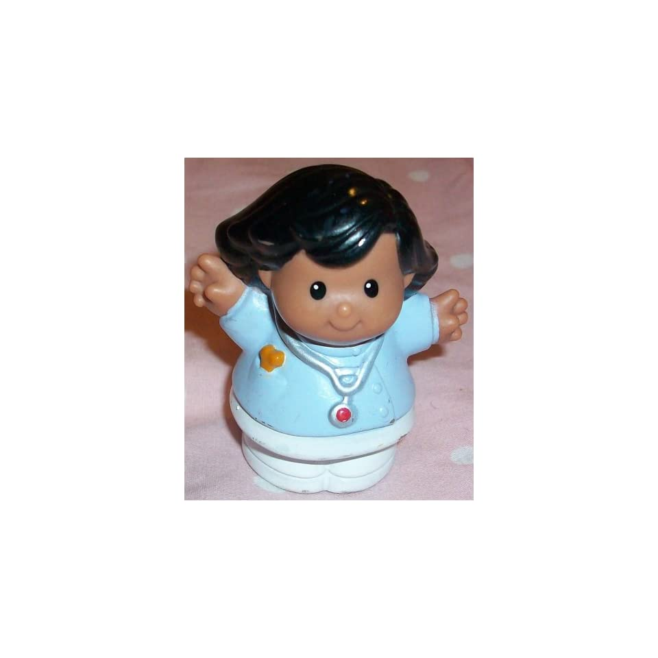 Fisher Price Little People Vet Doctor Woman Replacement Figure Doll Toy