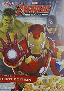 Kellogg's Marvel Avengers Age of Ultron, Limited time, Hero Edition, Sweetened Cereal w/Marshmallows, 8.4oz