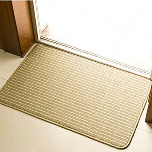 E.a@market Flax Plastic Wire Circle Door Mat Kitchen Mats Non-slip Bathroom Mat 45*70cm (Grass green)