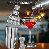 Cocktail Shaker Professional Stainless Steel by Copetín Bundle Set Martini Bar Kit 25oz Shaker & Built-in Strainer w/ BONUS Jigger & 101 Cocktail Recipes eBook