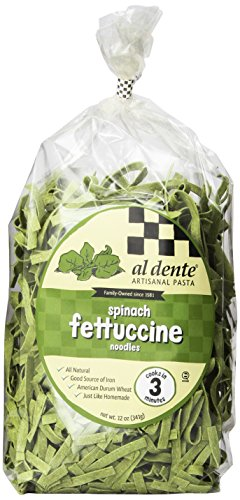Al Dente Spinach Fettuccine, 12-Ounce Bag (Pack of 6)
