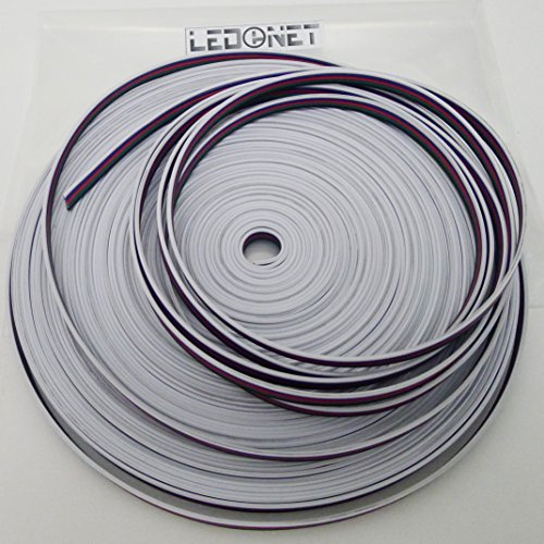 Ledenet® 20M Rgbw Extension Cable Line 5 Color For Rgbww Led Strip 5050 Ribbon Rgb Warm White Cord 5Pin Wire 66Ft