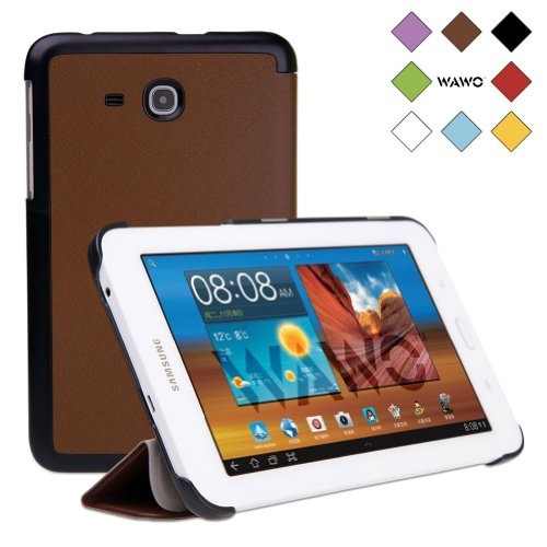 Wawo Samsung Tab 3 Lite 7.0 Inch Tablet Fold Case Cover - Brown