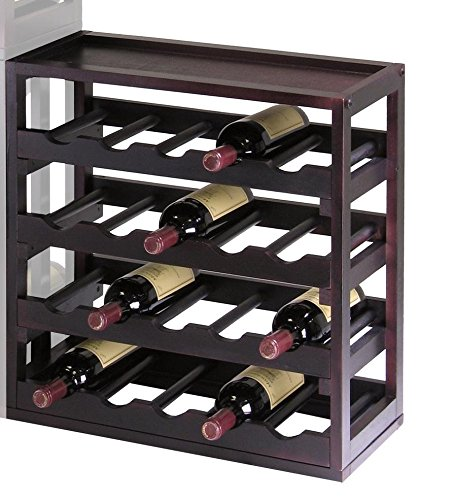 Winsome Kingston - Stackable Removable Tray 20 Bottle Wine Cube (Wine Rack With Removable Tray compare prices)