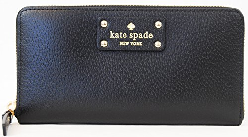 Kate Spade Neda Wellesley Black Leather Zip Around Wallet