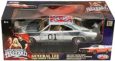 Dukes of Hazzard Rare Chrome General Lee 1:18 Scale Die Cast Car