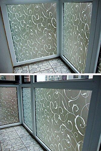 45x100cm-vetro-glassato-film-privacy-scroll-fiore-finestra-static-cling