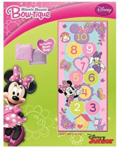 Amazon Com Minnie Mouse Hopscotch Game Rug Childrens Rugs