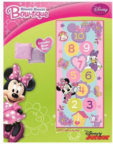 Minnie Mouse Hopscotch Game Rug