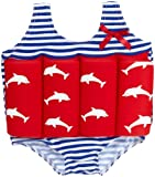 Beverly Kids Girl's Costa Del Sol Floating Swimsuit - Red/Blue/White, 4-5 Years