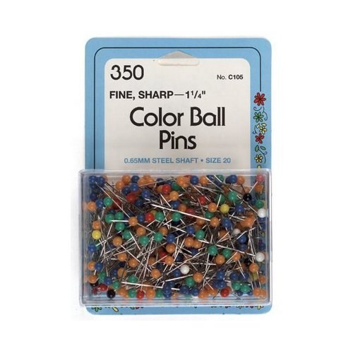Dritz Color Ball Pins Size 20 - 350 per Package