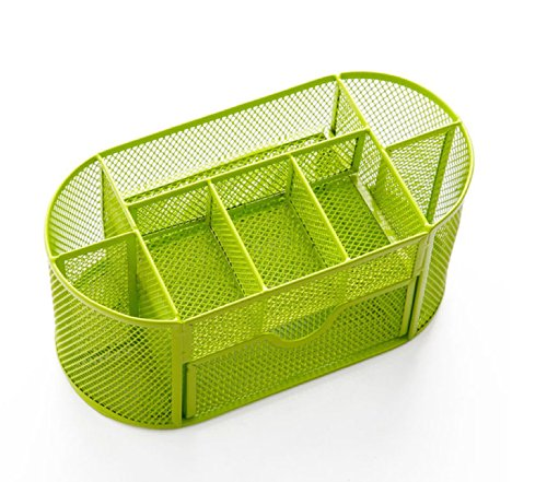 Superpag(Tm) Mesh Desk Organizer Desk Supplies Combination Pen Holder Card Case Organizer Storage Box (Drawer-Green)