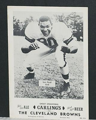 1953-3-cleve-browns-carling-black-label-beer-premiums-ford-grahamlavelli-autographed-nfl-photos