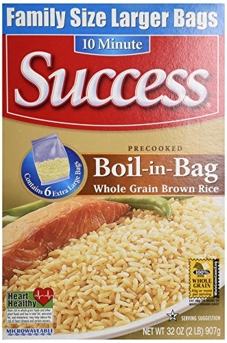 Success Rice Boil In Bag Brown Rice, 6 Large Bags,  Net WT 32 oz (Boil In The Bag Rice compare prices)