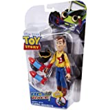 Disney Pixar - Toy Story - RC's Race Figure - Woody with Turbo Rockets