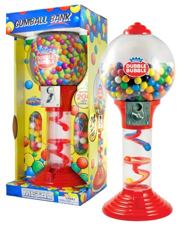 "Sweet N Fun Metal Gumball Bank with Gumballs (200-Piece), 24"" - 1"