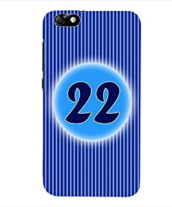 ColourCraft Numerology Number 22 Back Case Cover for HUAWEI HONOR 4X