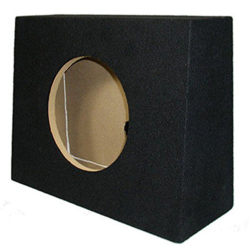 Sycho Sound New Single Car Truck Wedge Black Subwoofer Box Sealed Enclosure for 10-Inch Woofer 10F (Sealed Subwoofer Enclosure compare prices)