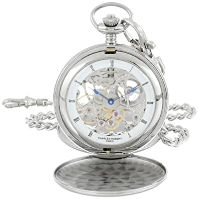 Charles-Hubert Pocket Watch 3780-W Chrome Plated Double Hunter