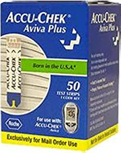 ACCU-CHEK Aviva Plus Mail Order Test Strips 50-Count Box