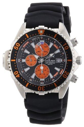Chris Benz Men's Quartz Watch CB-C-ORANGE-KB with Rubber Strap