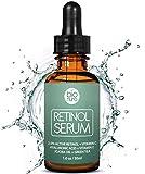 Bionura Retinol Serum mit 2,5% Retinol, 20% Vitamin C & 10% Hyaluronsäure - Die beste Natürliche Anti Aging & Anti Falten Retinol Behandlung für Sensible Hautohne die irritierenden Nebenwirkungen. 30 ml