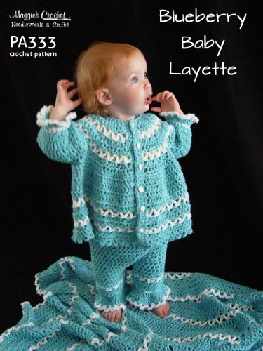 Crochet Pattern Blueberry Baby Layette Pa333-R front-119944