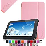 "Fintie Slim Shell Case Cover for 10.1-Inch Android 4.4 KitKat Tablet PC inclu. D2D 10.1 inch Android Tablet, Polatab Elite Q10.1"", FUSION5 10.1"", TONBUX 10.1"", iRulu 10.1"" A20, Tabexpress 10.1"", Dragon Touch A1 10.1"", Tagital T10 10.1"" Tablet (PLEASE check the complete compatible tablet list under Product Description) - Pink"