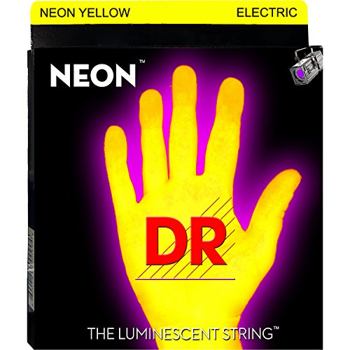 Dr Strings Nye-11 Coated Nickel Hi-Def Yellow Electric Guitar Strings, Heavy