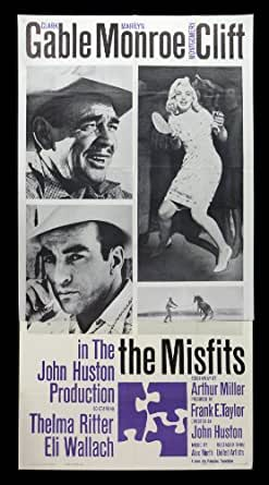 the misfits marilyn monroe movie poster clark gable at