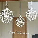クリスマス飾り 雪の結晶 ホワイト ウォールステッカー クリスマス オーナメントメリークリスマス シール装飾 ガーランド