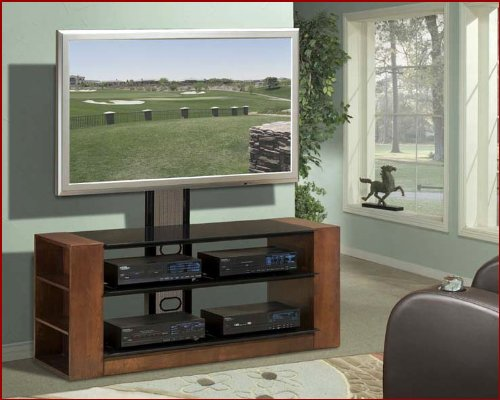 Image of Encore Entertainment - Contemporary Mixed Media TV Stand AP-TVS-54 (B002UXPBTA)